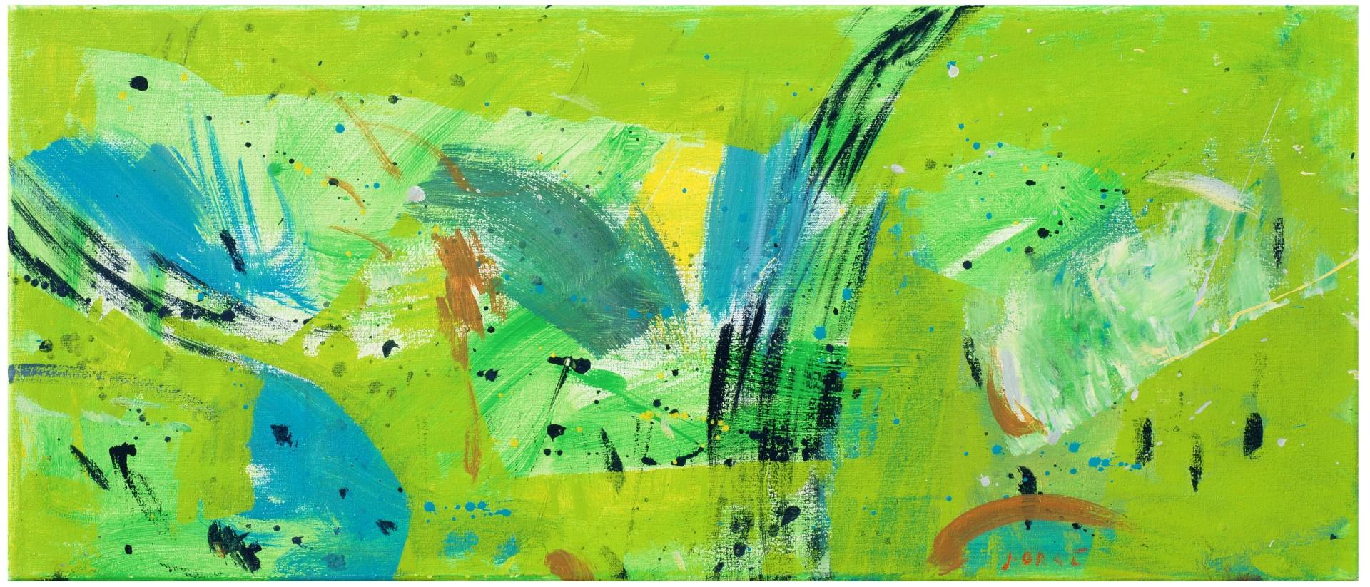 MLADOSTNA OAZA II., 2012, akril pl., 30 x 70 cm