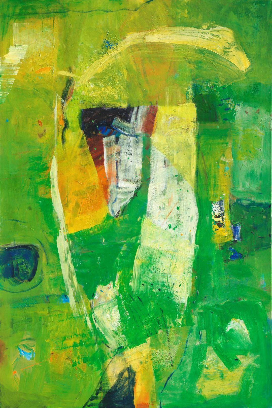 iz cikla CVETOČI VRTOVI,  2010, akril pl., 150 x100 cm