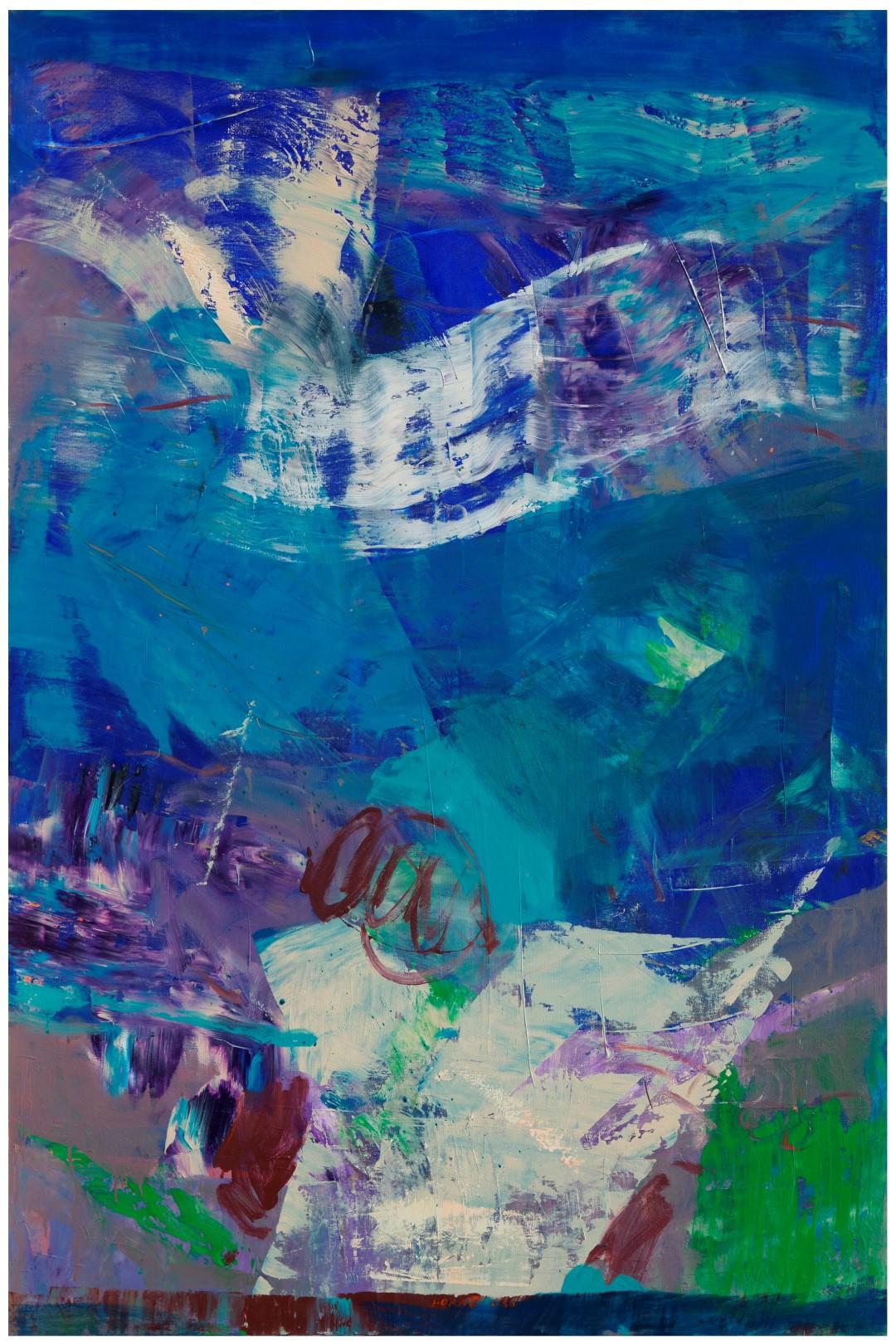 iz cikla CVETOČI VRTOVI III., 2010, akril pl., 150 x 100 cm