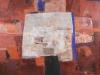 PLASTENJE XII., 2008, akril - kolaž pl., 150 c 200 cm