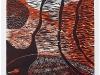 škrlatni plašč - barvni lesorez